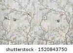3d Wallpaper Design With Birds...