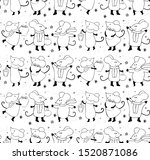 seamless pattern of cute... | Shutterstock .eps vector #1520871086