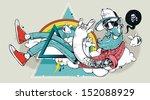 abstract graffiti hipster... | Shutterstock .eps vector #152088929