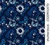 seamless pattern with sketch... | Shutterstock .eps vector #1520901470