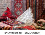 Oriental Carpets In The Market.