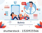 bulimia  eating disorder... | Shutterstock .eps vector #1520925566