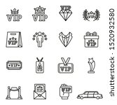 vip icons set with white...   Shutterstock .eps vector #1520932580