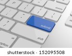 submit button on keyboard with... | Shutterstock . vector #152095508