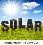 solar energy panels on... | Shutterstock . vector #152096969