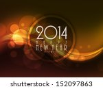 happy new year 2014 celebration ... | Shutterstock .eps vector #152097863