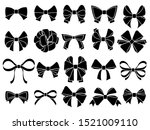 decorative bow silhouette. gift ... | Shutterstock .eps vector #1521009110