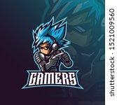 gamer mascot logo design vector ... | Shutterstock .eps vector #1521009560