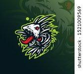 Fish Monster Mascot Logo Design ...