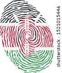 fingerprint vector colored with ...   Shutterstock .eps vector #1521015446