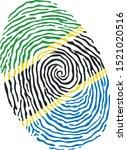 fingerprint vector colored with ...   Shutterstock .eps vector #1521020516
