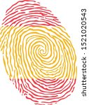 fingerprint vector colored with ... | Shutterstock .eps vector #1521020543