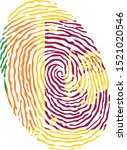fingerprint vector colored with ... | Shutterstock .eps vector #1521020546