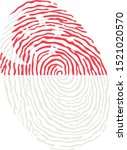 fingerprint vector colored with ... | Shutterstock .eps vector #1521020570