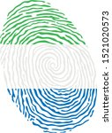 fingerprint vector colored with ... | Shutterstock .eps vector #1521020573