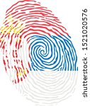 fingerprint vector colored with ... | Shutterstock .eps vector #1521020576
