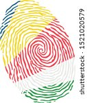 fingerprint vector colored with ... | Shutterstock .eps vector #1521020579