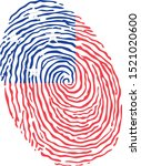fingerprint vector colored with ... | Shutterstock .eps vector #1521020600