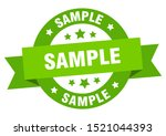 sample ribbon. sample round... | Shutterstock .eps vector #1521044393