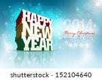 Vector 3d Happy New Year Desig...