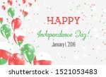 oman independence day greeting... | Shutterstock .eps vector #1521053483