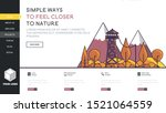 web page design templates with... | Shutterstock .eps vector #1521064559