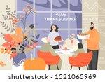 vector illustration of a happy... | Shutterstock .eps vector #1521065969