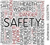 word cloud   safety | Shutterstock . vector #152107976