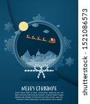 christmas celebration poster in ... | Shutterstock .eps vector #1521086573