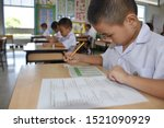 thai primary students in...   Shutterstock . vector #1521090929