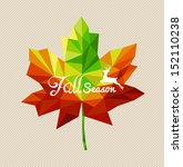 fall season text and deer over... | Shutterstock .eps vector #152110238