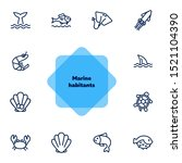seaanimal concept. vector... | Shutterstock .eps vector #1521104390