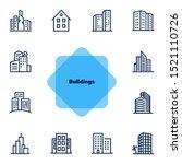 buildings line icon set. office ... | Shutterstock .eps vector #1521110726