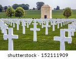 American Cemetery in the Vallee de la Somme in France. The Battle of the Somme took place in the First World War. Over 600,000 allied and 465,000 German troops lost there lives in the battle.