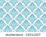 ottoman style wallpaper pattern ...   Shutterstock .eps vector #15211327