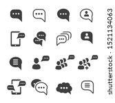 speech message talk text bubble ... | Shutterstock .eps vector #1521134063