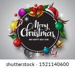merry christmas vector banner.... | Shutterstock .eps vector #1521140600