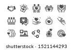 friendship and love icons.... | Shutterstock .eps vector #1521144293