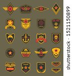 military patches  chevrons and... | Shutterstock .eps vector #1521150899