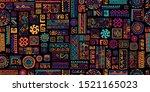ethnic handmade ornament ... | Shutterstock .eps vector #1521165023