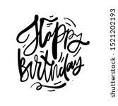 happy birthday card. hand... | Shutterstock .eps vector #1521202193