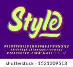 playful and stylish script... | Shutterstock .eps vector #1521209513
