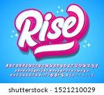 cute and playful modern script... | Shutterstock .eps vector #1521210029