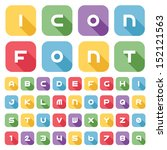 icon font and numbers  vector... | Shutterstock .eps vector #152121563