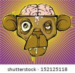 monkey brain | Shutterstock .eps vector #152125118