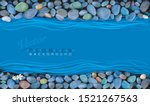 pebbles on the banks of a river.... | Shutterstock .eps vector #1521267563