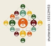 social network over white... | Shutterstock .eps vector #152129453