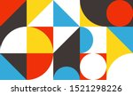 vintage retro bauhaus design...   Shutterstock .eps vector #1521298226