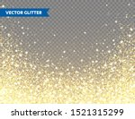 sparkling golden glitter on... | Shutterstock .eps vector #1521315299