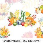 Watercolor Autumn Background...